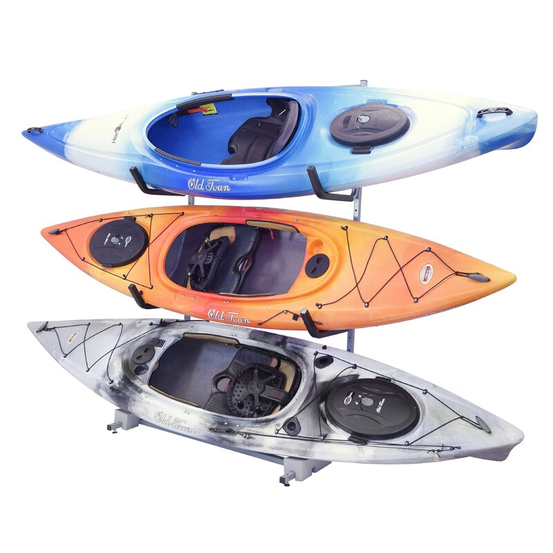 Wfx Utility 3 Kayak Storage Freestanding Kayak Rack Reviews Wayfair