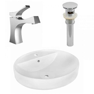 Shop For Ceramic Oval Vessel Bathroom Sink with Faucet and Overflow ByRoyal Purple Bath Kitchen