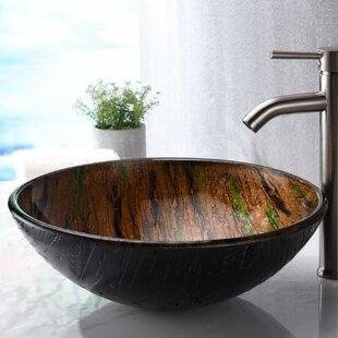 Best Choices Nile Glass Circular Vessel Bathroom Sink By ANZZI