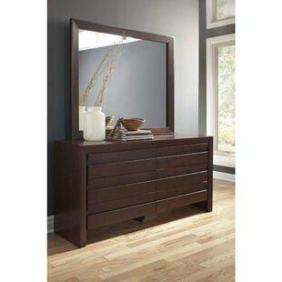 Marthasville Spacious Wooden 6 Drawer Double Dresser