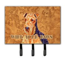 Aiale Wipe Your Paws Leash Holder and Key Hook by Caroline's Treasures