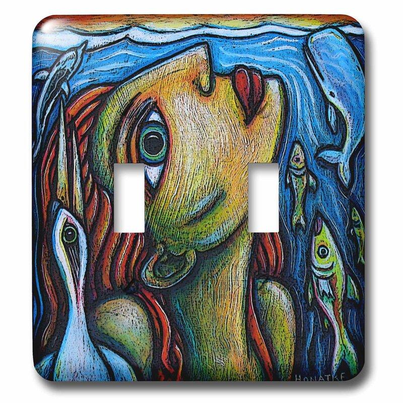 3drose Surfacing Fine Art Colorful Fish Bird Water Ocean 2 Gang Toggle Light Switch Wall Plate Wayfair