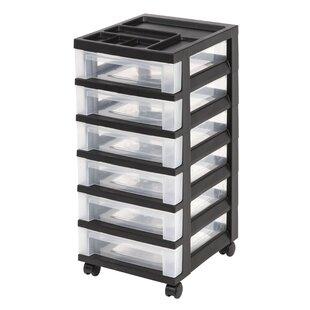 Best Price Storage Cart 26.44 H x 12.05 W x 14.25 D Drawer Organizer ByIRIS USA, Inc.