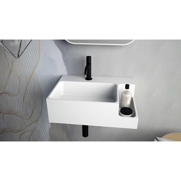 Ideavit Matte White Rectangular Wall Mount Bathroom Sink Wayfair