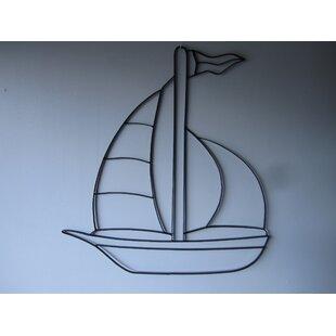 Famous Metal Sailboat Wall Art   Wayfair MB47