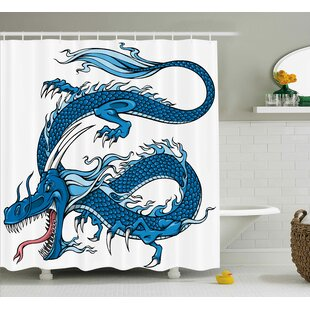Lucy Dragon Myth Creature Single Shower Curtain