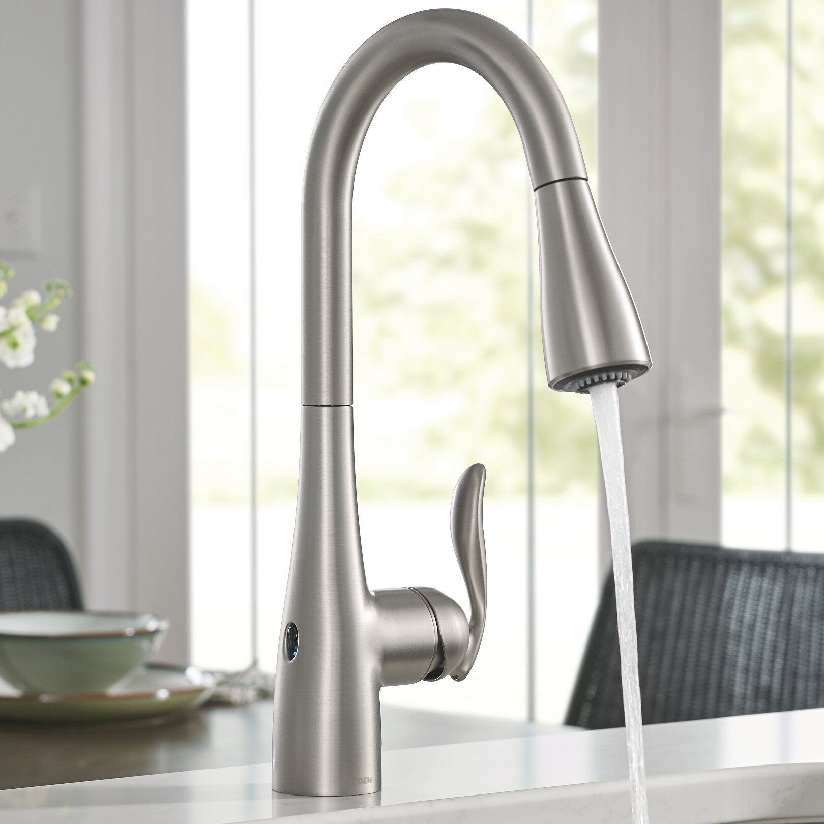 Fabulous Arbor Pull Down Touchless Single Handle Kitchen Faucet With Motionsense And Power Clean Technologies Home Interior And Landscaping Analalmasignezvosmurscom