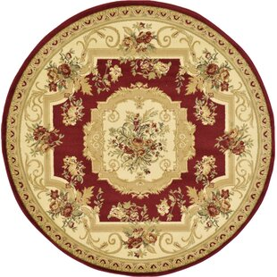 Sheffield Beige / Red Area Rug by Charlton Home