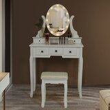 Standley Vanity Set with Stool and Mirror by House of Hampton®