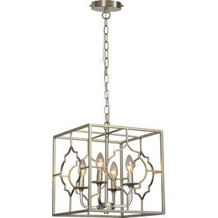 Reviews Napolitano 6-Light Square/Rectangle Chandelier By House of Hampton