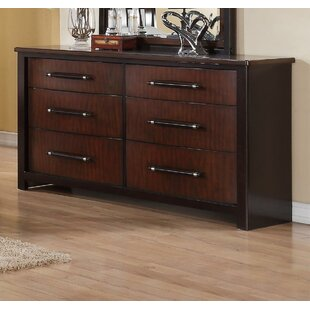 Dever Contemporary 6 Drawer Double Dresser