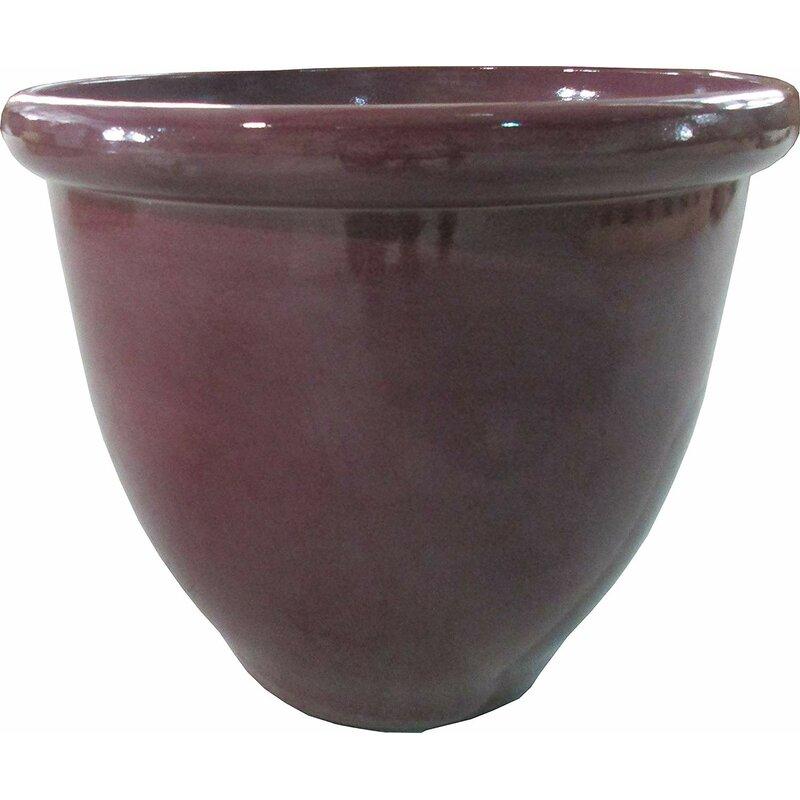 Happy Planterplanter 17 3 X 17 3 X 15 Raspberry Glaze Wayfair