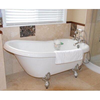 "Ambassador 60"" x 30"" Freestanding Bathtub Restoria Bathtub Company Color: Brushed Nickel"