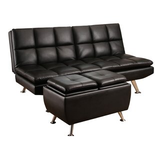 Rolston Bonded Leather 2 Piece Convertible Sofa Set