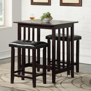 Richland 3 Piece Counter Height Pub Table Set & Pub Tables \u0026 Bistro Sets You\u0027ll Love | Wayfair islam-shia.org