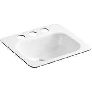 Great Price Tahoe Metal Rectangular Undermount Bathroom Sink with Overflow By Kohler
