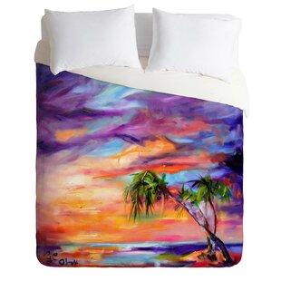 East Urban Home Fine Art Florida Palms Beach Duvet Cover Set