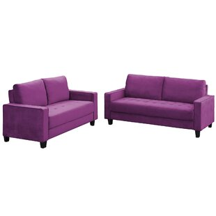 2 Piece Sofa Set Morden Style Couch Furniture Upholstered Armchair, Loveseat And Three Seat For Home Or Office (Loveseat+Three Person Seat) by Mercer41