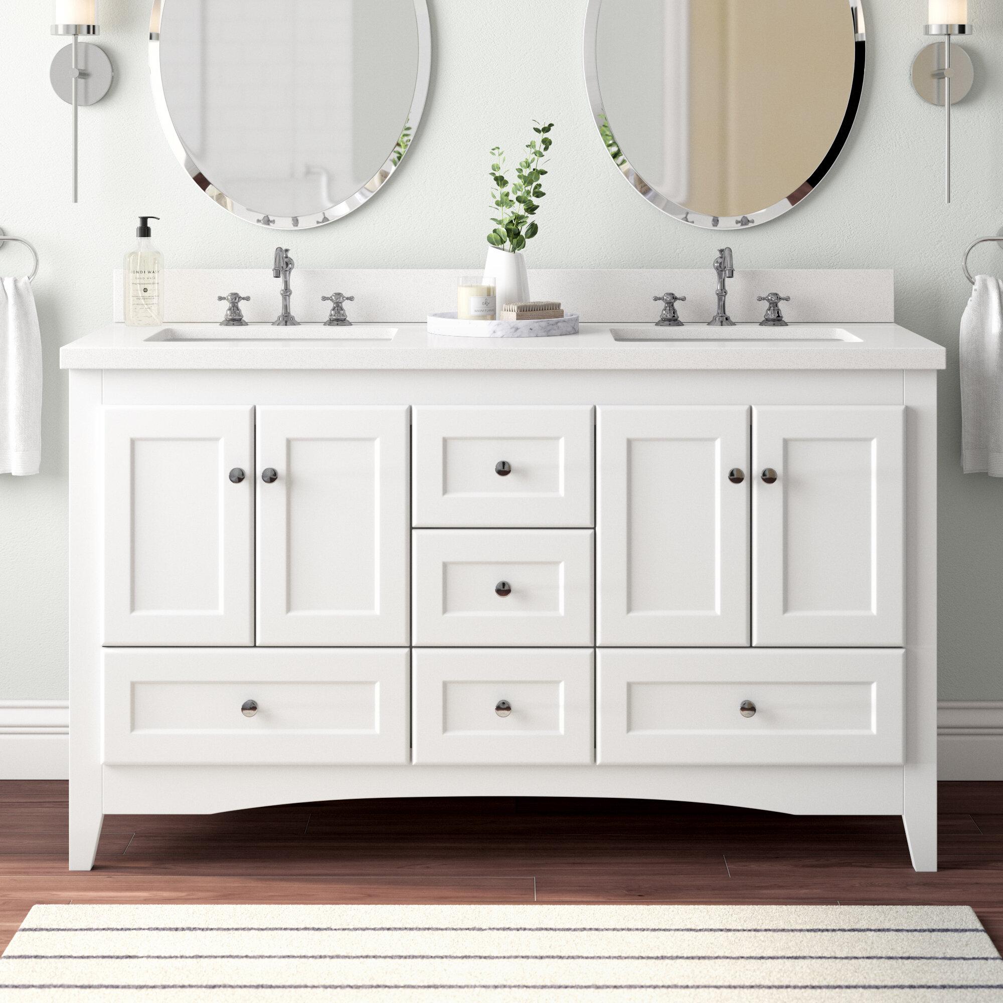 Birch Lane Prentice 60 Double Bathroom Vanity Set Reviews Wayfair
