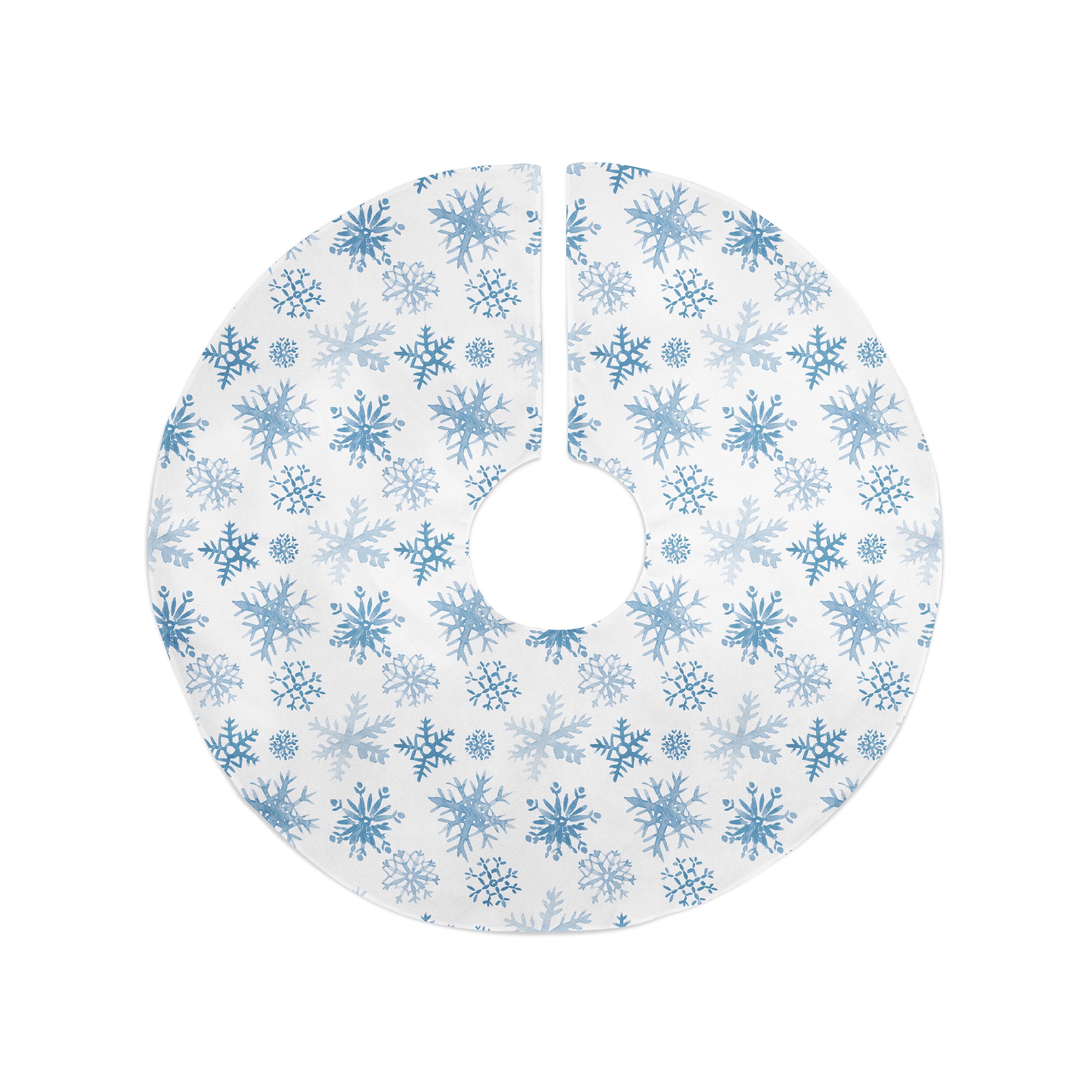 Blue Christmas Tree Skirts Collars You Ll Love In 2021 Wayfair