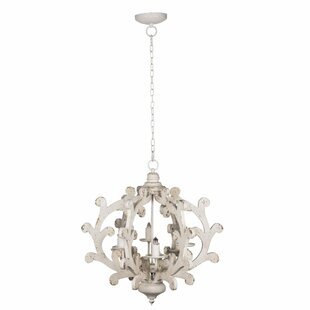 Evelin Carved 6-Light Novelty Chandelier