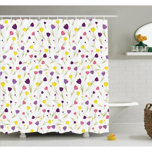 Floyd Tulips Spring Romantic Shower Curtain Set