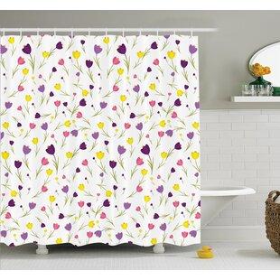 Floyd Tulips Spring Romantic Shower Curtain Set