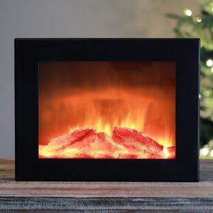 Faux Fireplace LED Plastic Lantern