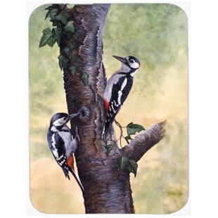 Woodpeckers Glass Cutting Board By Caroline's Treasures