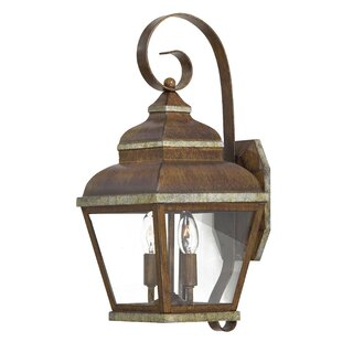 Best Reviews Saniyah 2-Light Outdoor Wall Lantern By Bloomsbury Market
