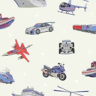 Cars Transportation Children S Wallpaper You Ll Love Wayfair Co Uk