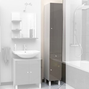 tall bathroom cabinets wayfair co uk