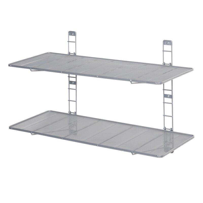 2 tier heavy duty floating wall mounted storage shelf - Heavy Duty Storage Shelves