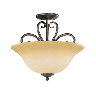 Birchview 3-Light Semi-Flush Mount by Fleur De Lis Living