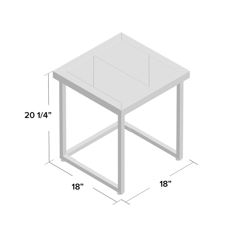 Trent Austin Design Adalheid Parquet End Table Wayfair