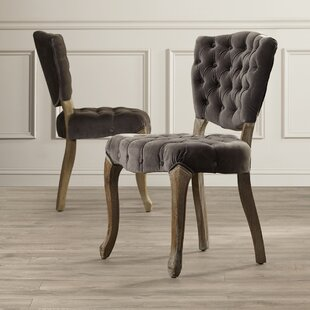 Therrien Upholstered Dining Chair (Set of 2) Lark Manor