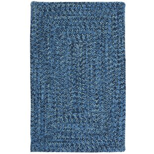 Hawkins Blue Wave Indoor/Outdoor Area Rug By Winston Porter