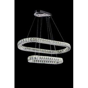 Baggett LED Light Crystal Chandelier