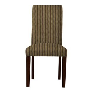 Latitude Run Beachwood Vertical Stripes Parsons Chair (Set of 2)
