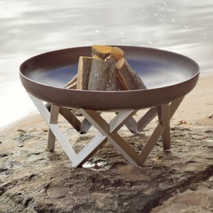 Pond Stainless Steel Charcoal/Wood Burning Fire Pit By Sol 72 Outdoor