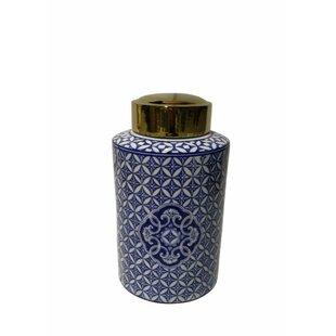 Gleaming Ceramic Covered Storage Jar by Alcott Hill