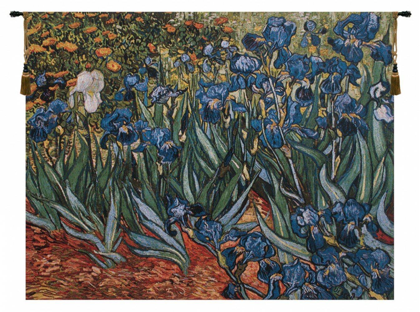 Charlotte Home Furnishings Irises In Garden By Van Gogh Tapestry Wayfair