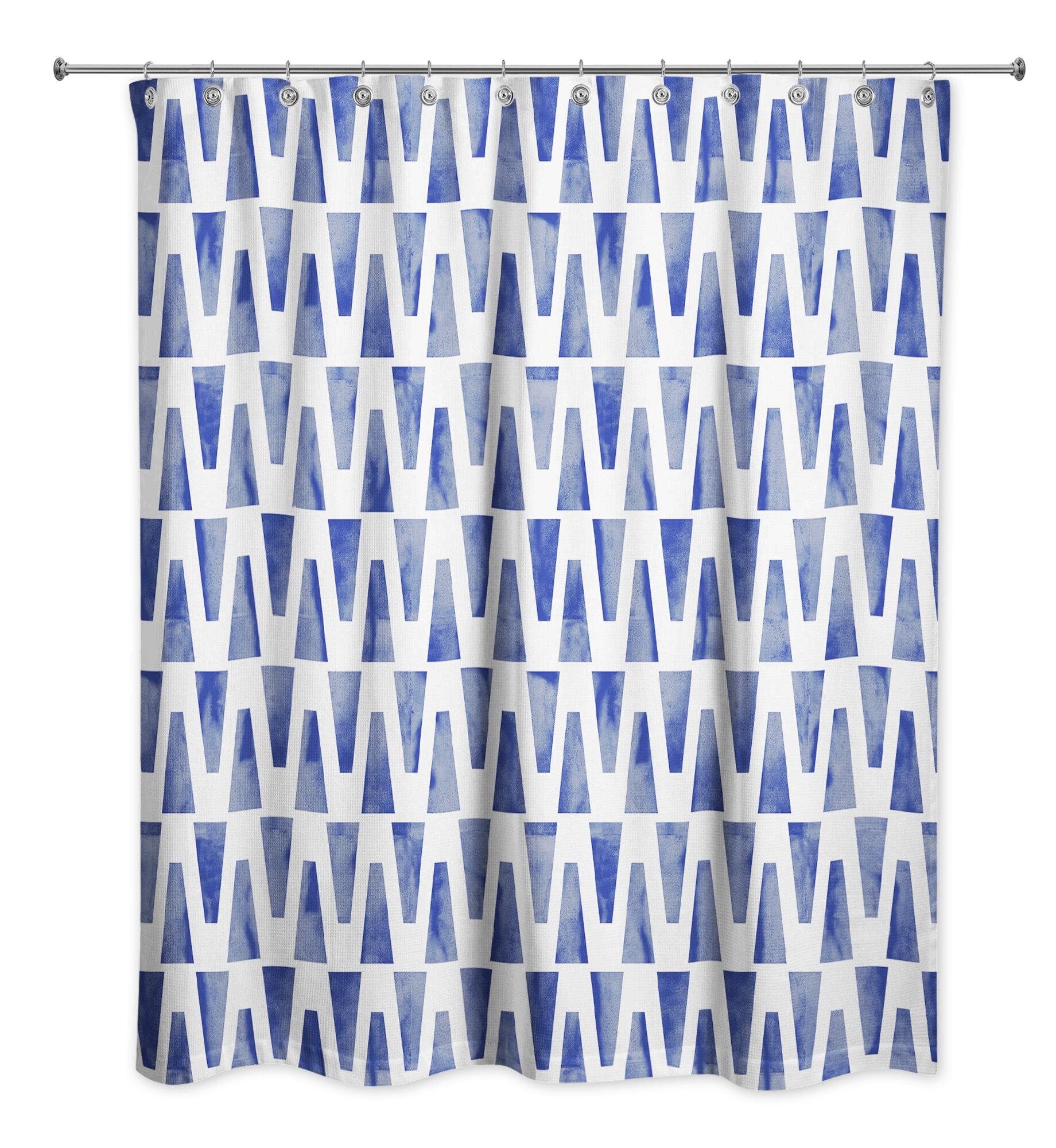 Latitude Run Yolande Geometric Single Shower Curtain Wayfair