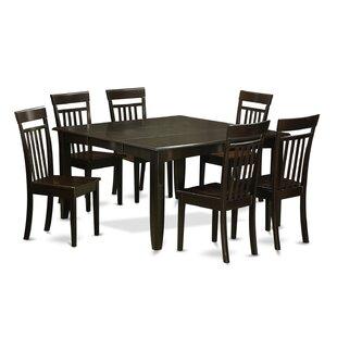 August Grove Pilning 7 Piece Wood Dining Set