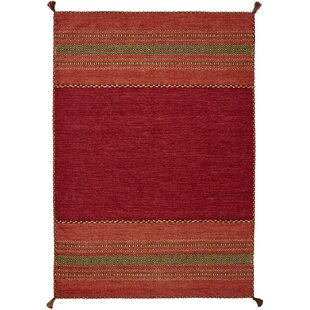 Grijalva Hand-Woven Red Rug by World Menagerie
