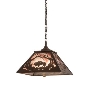 Meyda Tiffany Greenbriar Oak 2-Light Dome Pendant