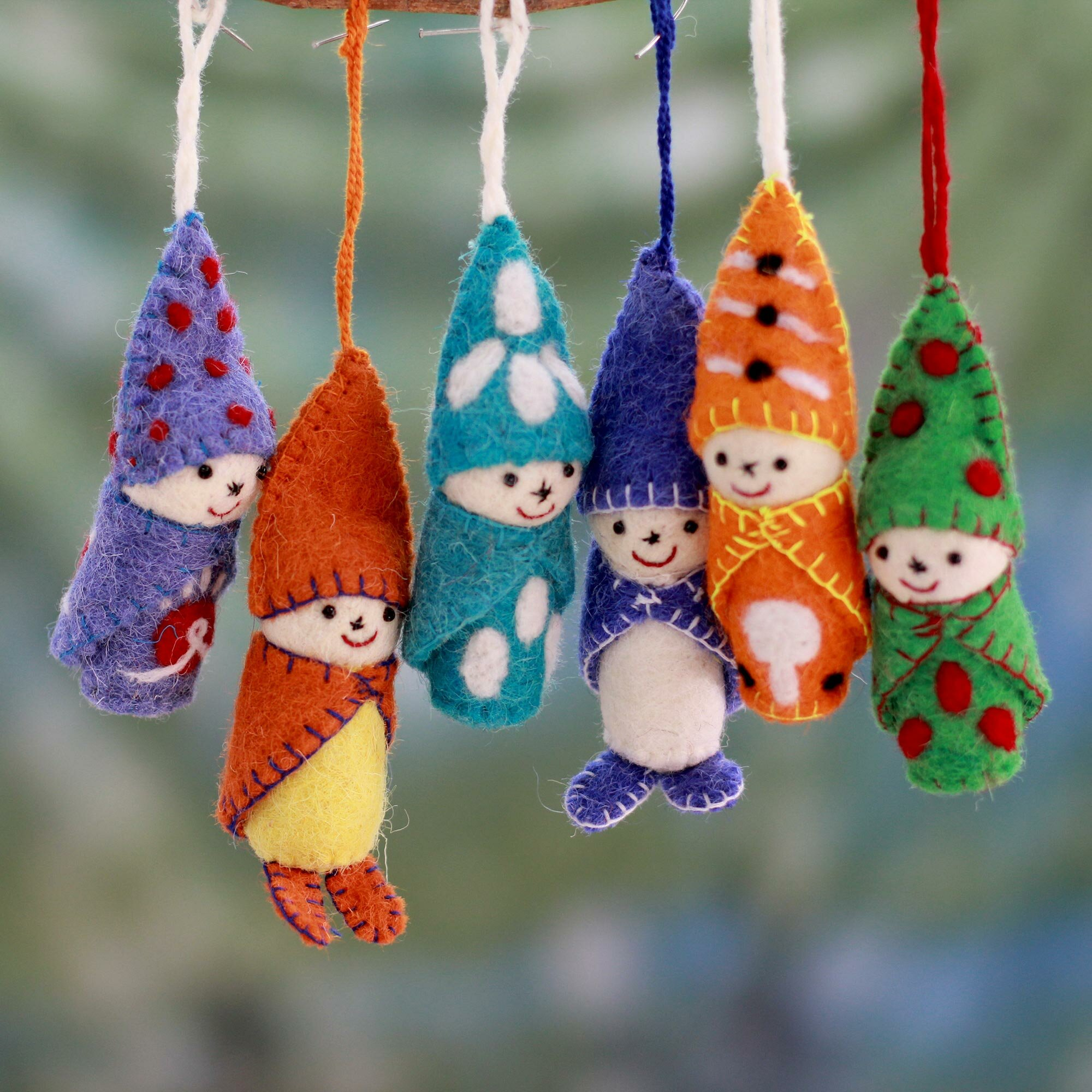 The Holiday Aisle 6 Piece Handmade Hanging Figurine Ornament Set Reviews Wayfair
