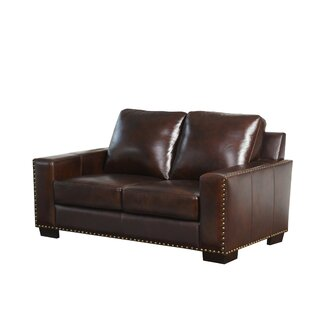 Potsdam Leather Standard Loveseat by Red ..