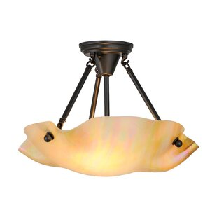 Meyda Tiffany Greenbriar 2-Light Semi Flush Mount