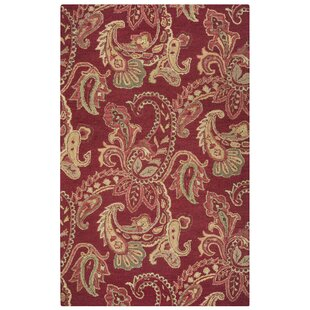 Hand-Tufted Red Area Rug By The Conestoga Trading Co.